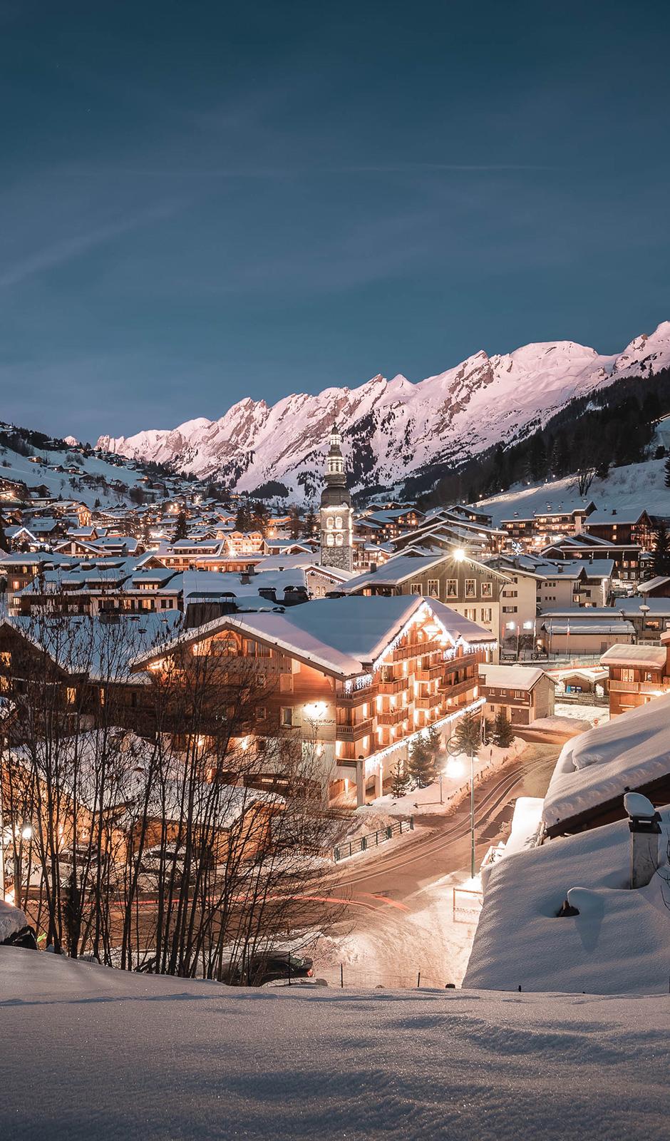 Village La Clusaz de nuit